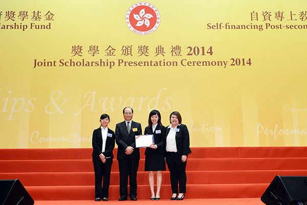 Mr Eddie Ng, the Secretary for Education, presented certificates to