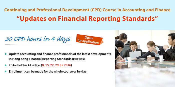 Continuing and Professional Development Course in Accounting and Finance - Updates on Financial Reporting Standards