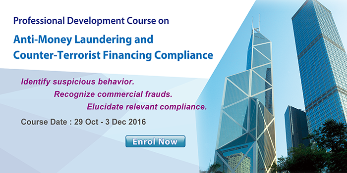Professional Development Course on Anti-Money Laundering and Counter-Terrorist Financing Compliance