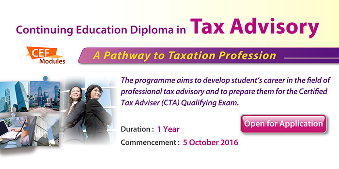 Continuing Education Diploma in Tax Advisory