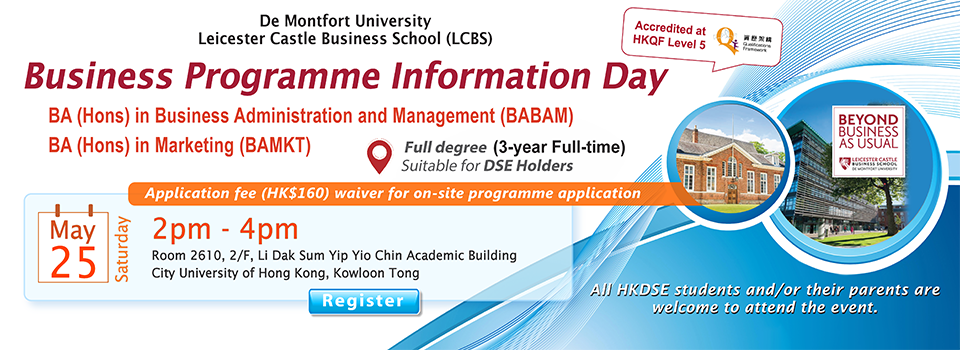 DMU Business Programme Information Day