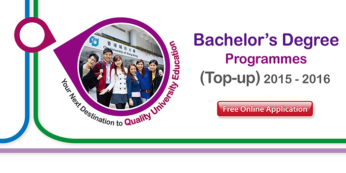 Bachelor's Degree Programmes (Top-up) 2015-2016