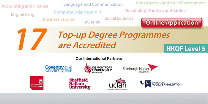 17 Top-up Degree Programmes are Accredited