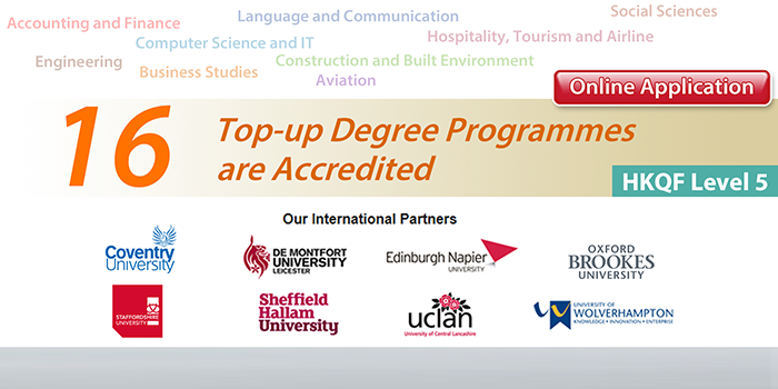 16 Top-up Degree Programmes are Accredited