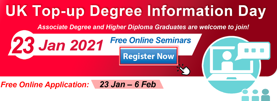 UK Top-up Degree Information Day - Free Online Seminars